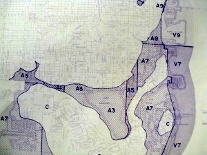 Flood Control Map, 1977